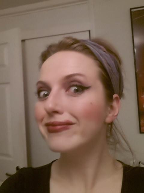 The Demon Gin #nomakeupselfie, no make-up selfie, no make-up selfie disaster