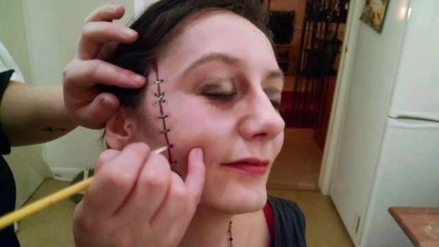 The Demon Gin, adult face painting, British Library gothic, halloween